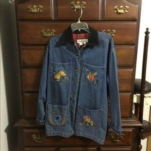 Casey Coleman Blue Jean Horse Jacket